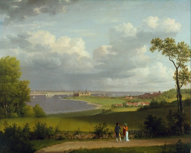 Christoffer_Wilhelm_Eckersberg_-_View_north_of_Kronborg_Castle_-_Google_Art_Project